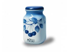 porcelanova doza 1 l musli modre tresně porcelan thun