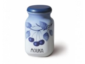 porcelanova doza 1 l mouku modre tresně porcelan thun