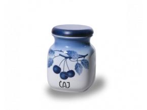 porcelanova doza 600 ml caj modre tresně porcelan thun