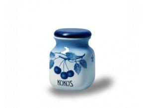 porcelanova doza 600 ml kokos modre tresně porcelan thun