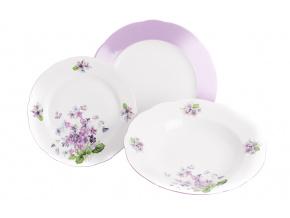 Mary-Anne, sada talířů, fialky, Leander 18-dílná