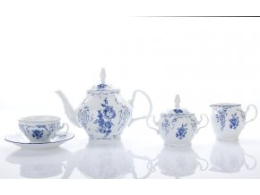 cajova souprava modry kvet bernadotte thun porcelanovy svet