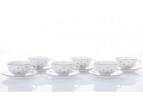 sada salku cajovych 230 ml s podsalkem Franceska karlovarsky porcelan porcelanovy svet