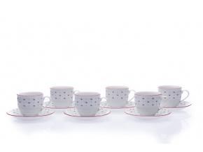 šálky na kávu 230 ml franceska český porcelán g. benedikt 6 d.