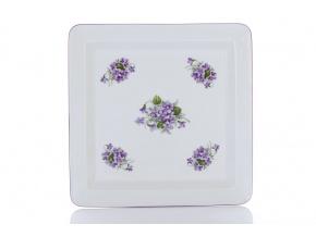 talir ctyrhranny 27 fialky cesky porcelan Porcelanovy svet