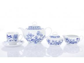 čajová souprava saphyr cibulák česky porcelán porcelánový svět