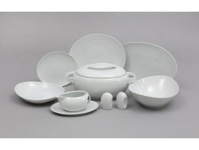 Loos, jídelní souprava, český porcelán, bílá, Thun, 24 d.
