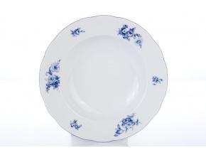 hluboký porcelánový talíř 23 cm rose modré růže thun procelánový svět