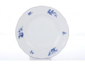 mělký porcelánový talíř 25 cm rose modré růže thun procelánový svět