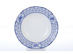 hluboký porcelánový talíř 23 cm rose modrá stuha thun procelánový svět