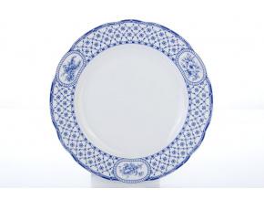 mělký porcelánový talíř 25 cm rose modrá stuha thun procelánový svět