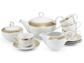 porcelán čajová souprava andělská křídla zlato Leander Porcelánový svět