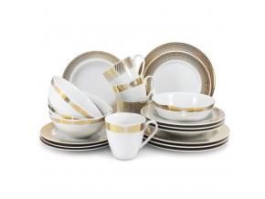 porcelánová jídelní souprava andělská křídla zlato Leander Porcelánový svět