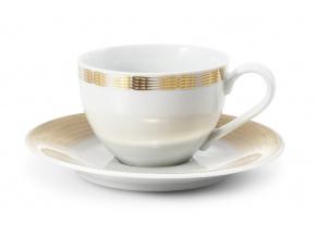 porcelánový šálek a podšálek 200 ml andělská křídla zlato A Leander Porcelánový svět