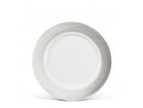 Porcelánový talíř dezertní 21 cm andělská křídla platina Leander Porcelánový svět
