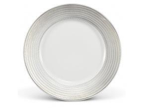 Porcelánový talíř mělký andělská křídla platina Leander Porcelánový svět