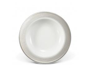 Porcelánový talíř hluboký andělská křídla platina Leander Porcelánový svět