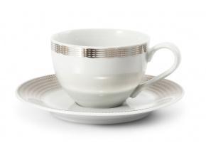 Porcelánový šálek a podšálek 200 ml andělská křídla platina Leander Porcelánový svět