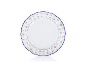 dezertní talíř 19 růžičky modrý lem porcelánový svět