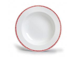 hluboky talir 22 odense cervena karlovarsky porcelan porcelanovy svet