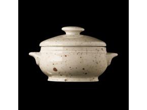 porcelánový šálek na polévku s víčkem 500 ml Lifestyle Natural lsn1250 v
