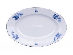 mísa oválná, 36, modré růže, český porcelán, thun