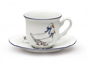 sálek a podšálek 230 ml český porcelán husy thun
