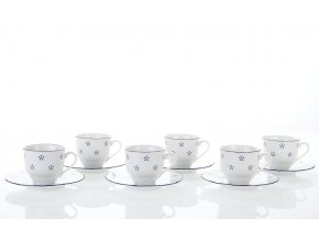 šálky a podšálky na espresso, 80 ml, český porcelán, valbella, g. benedikt