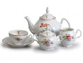 čajový servis český porcelán Bernadotte zahradní květy thun 15 d.
