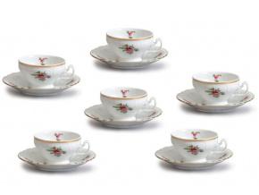 čajové šálky český porcelán Bernadotte zahradní květy 205 ml thun 6 d.