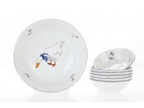 kompotova souprava husy porcelan thun