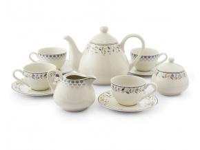 Čajová kávová souprava, český porcelán, NatureLine, Leander