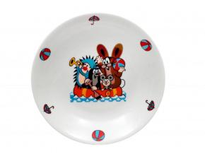 dětský hluboký porcelánový talíř, Krteček a člun, 20cm, Thun