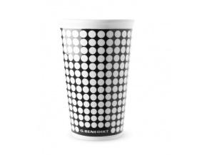 hrnek na kávu s sebou  - bílé puntíky