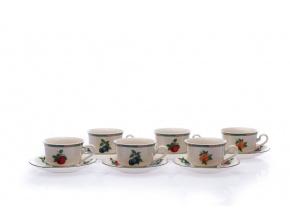 porcelánové šálky ve slonové kosti český porcelán Leander
