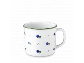 Retro hrnek, porcelán, modré kytičky, 350 ml, G. Benedikt