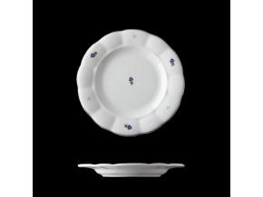 Talíř dezertní, český porcelán, kytičky, 19 cm, G. Benedikt