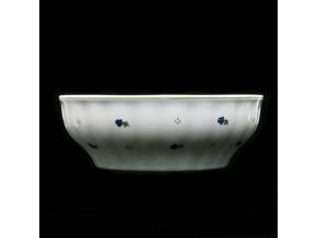 Mísa válcová, porcelán, modré kytičky, 24 cm, G. Benedikt