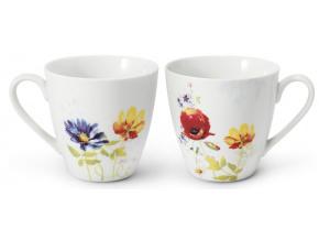 Sada dvou hrnků, český porcelán, 0,30 l, Palouček z Louček, Leander
