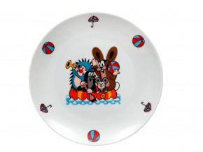 Krteček a člun, mělký talíř, 21 cm, český porcelán, Thun