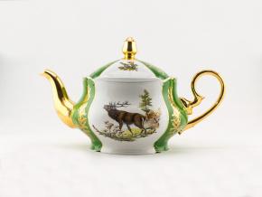 Konvice čajová   3,50 l, myslivecký porcelán, Leander