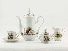 Mary-Anne, kávová souprava, myslivecký porcelán, Leander, 15 d.