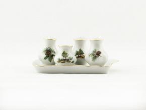 Souprava sypátek, myslivecký porcelán, Leander, 5 d.