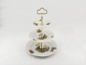 Etažérka, myslivecký porcelán, Leander