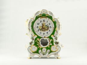 Hodiny krbové 32 cm, myslivecký porcelán, Leander