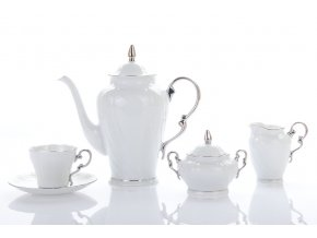 kavova souprava ela platina porcelan leander