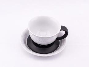 Kelt, šálek s podšálkem, 0,35 l, český porcelán, Leander