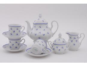 Mary-Anne, čajová souprava, pomněnky, 15 dílná, Leander