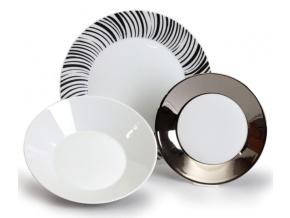 talířová souprava tom kovový efekt thun 18 d.