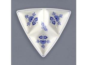 Miska Trina třídílná malá 20,5 cm,  cibulák, Český porcelán